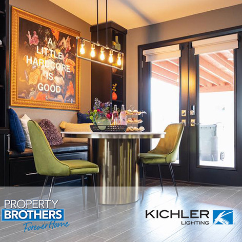 "Forty6Eleven secures Kichler Lighting on ""Property Brothers: Forever Home"""