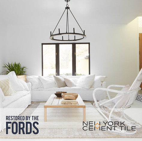 "Forty6Eleven places NY Cement Tile on ""Restored By The Fords"""