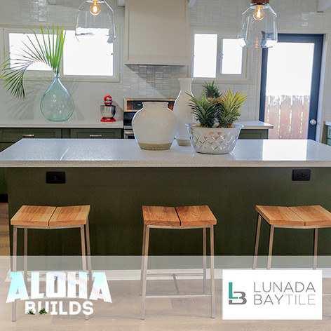 Tile Placed on DIY Network Aloha Builds