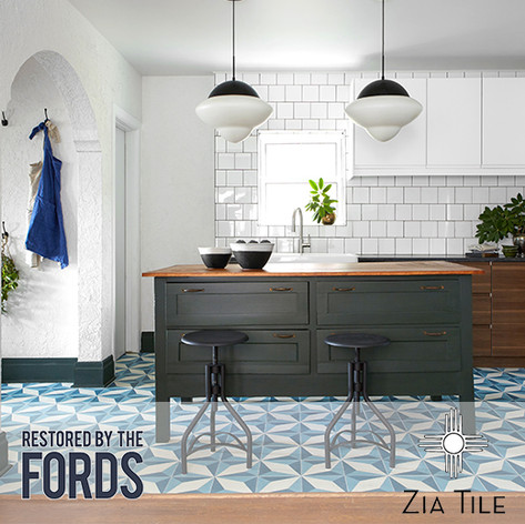 "Forty6Eleven places Zia Tile on ""Restored By The Fords"""