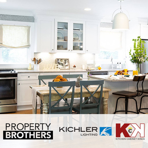 "Kichler Lighting & Kitchen Cabinet Kings placed in HGTV ""Property Brothers"""