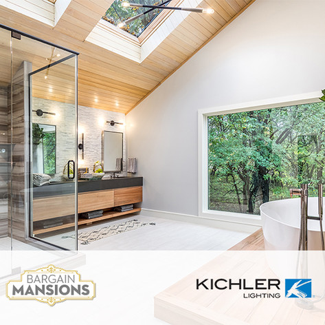 "Kichler Lighting placed in DIY ""Bargain Mansions"""