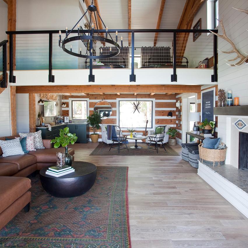 Living Room & Upstairs