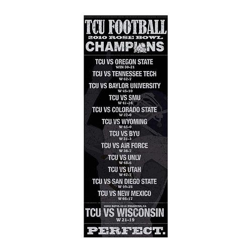TCU 2010 Perfect Season Banner