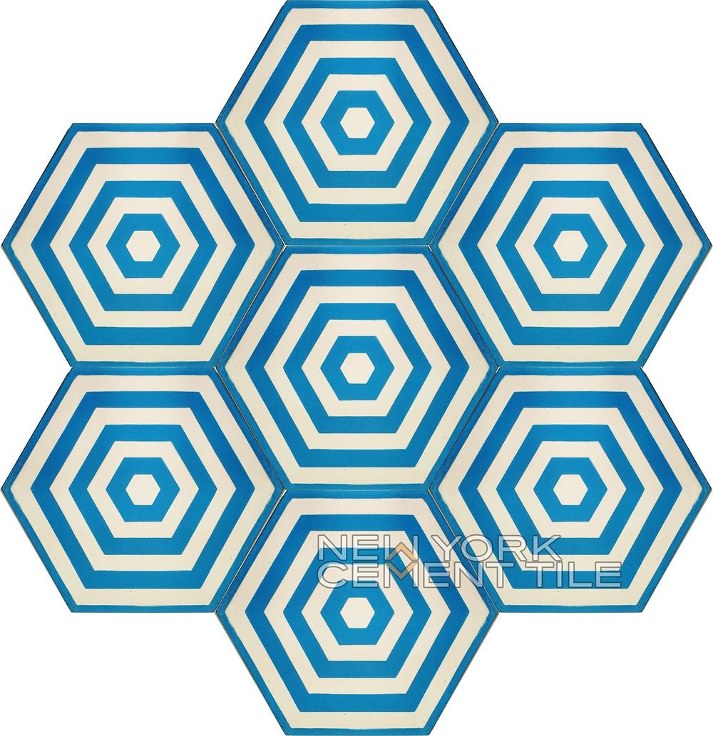 New York Cement Tile Hexagon