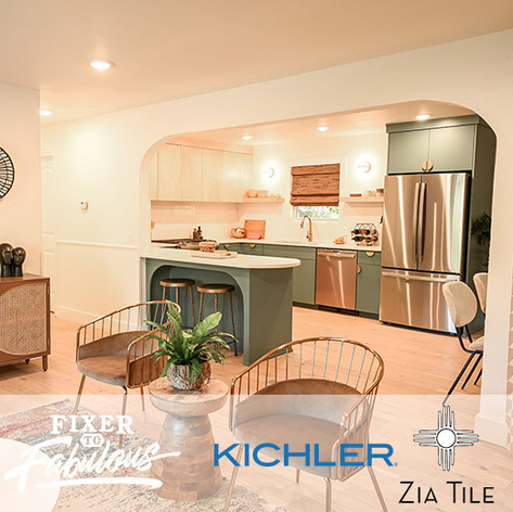 Kichler and Zia Tile on Fixer to Fabul