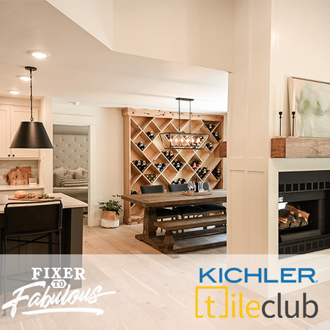 Kichler and Tile Club on Fixer to Fabulous