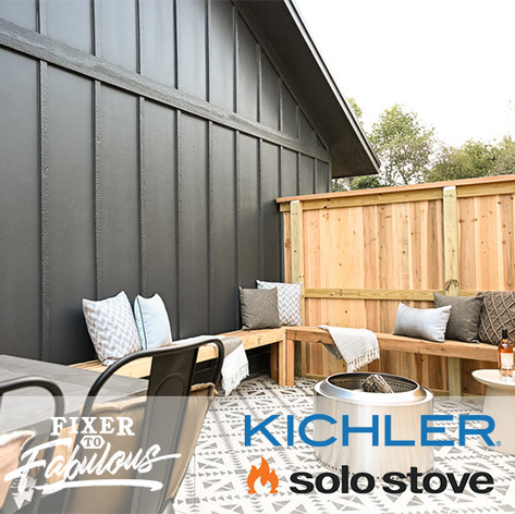 Kichler and Solo Stove on HGTV Fixer to Fabulous