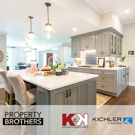 "Kitchen Cabinet Kings and Kichler products placed in""Property Brothers"""