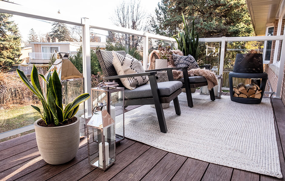 Clubhouse Decking and glass railing from Regal Ideas on HGTV Property Brothers: Forever Home