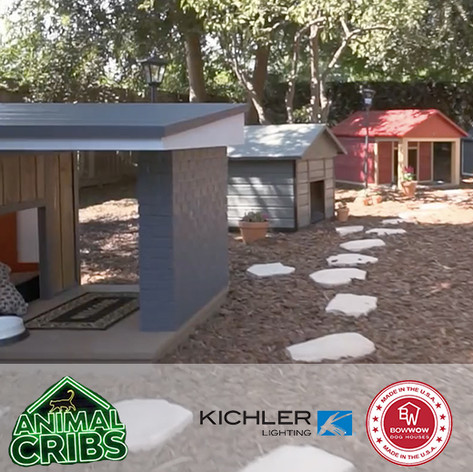 "Forty6Eleven places Bow Wow Dog Houses and  Kichler Lighting on Animal Planet's ""Animal Cribs"""