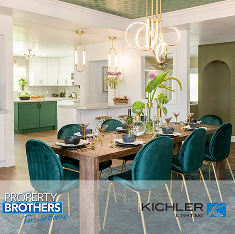 "Forty6Eleven places Kichler Lighting on ""Property Brothers: Forever Home"""