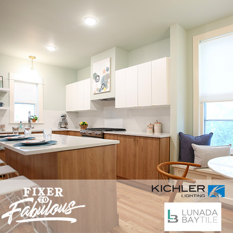 "Kichler Lighting & Lunada Bay Tile on ""Fixer to Fabulous"""