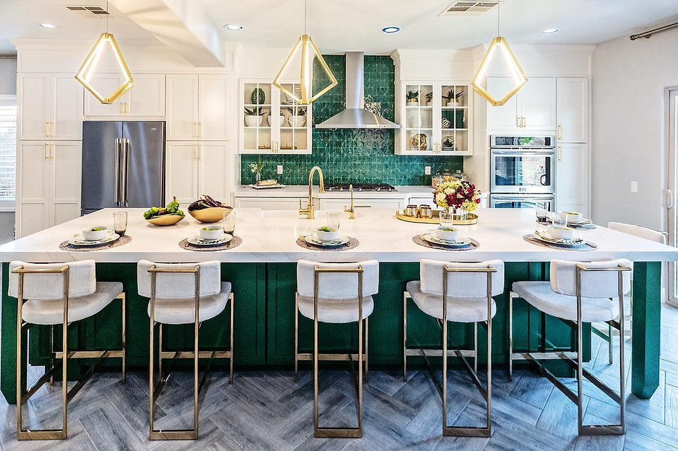 Gold lights from Kichler Lighting on HGTV Property Brothers: Forever Home with Jonathan and Drew Scott