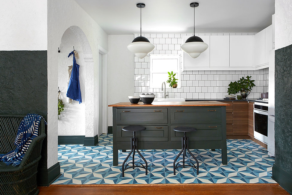 Cement tile from Zia Tile on Restored By The Fords