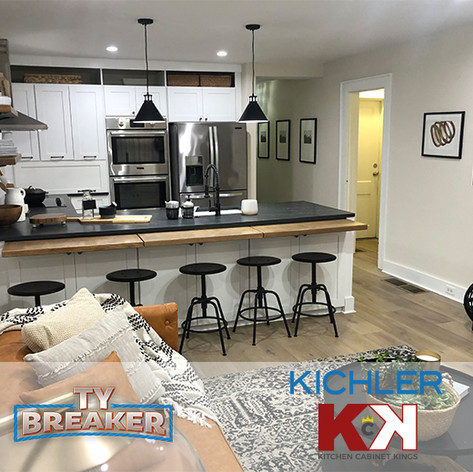 Kichler Lighting and Kitchen Cabinet Kings on Ty Breaker