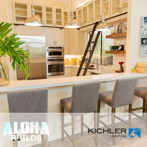 "Kichler Lighting placed in DIY ""Aloha Builds"""