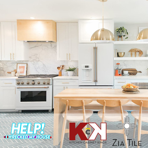 Kitchen Cabinet Kings and Zia Tile As Seen On Help! I Wrecked My House