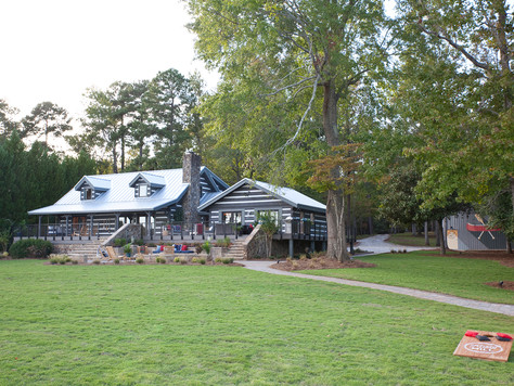 Chip Wade's Misty Mill Lake House, in partnership with 'House Beautiful', is now complet