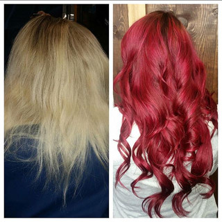 HAIR ECO SALON RED WITH EXTENSIONS