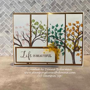 Life is Beautiful - Four Season Card! - Stampin' Up!