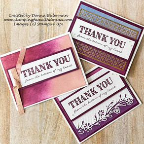 Ornate Thanks and Ornate Borders | Create 3 Cards 1 Way | Stampin' Up!