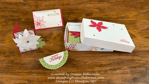 Making Packaging with Poinsettia Petals