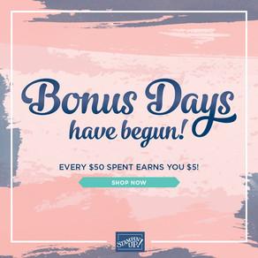 Bonus Days are Happy Days - but ending soon