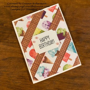 Ice Cream Corner Designer Series Paper | Quick Card