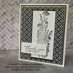 Black and White Elegance - Dragonfly Gardens