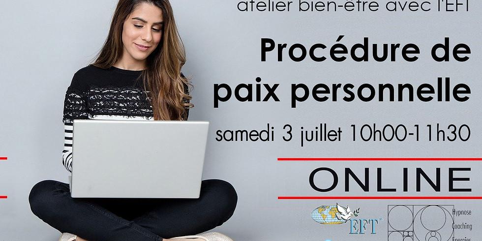 Procédure de Paix Personnelle, EFT, via Skype