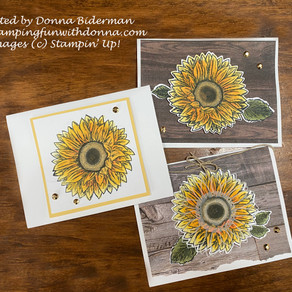 Celebrate Sunflowers - 1 Card Three Ways with Blends!
