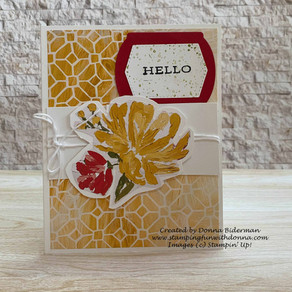 Simple Stamping with Fine Art Floral DSP