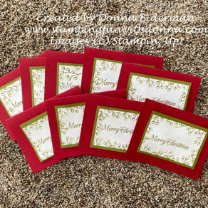 Another 10 Christmas Cards in 30 minutes or less using Poinsettia Petals
