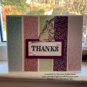 Darling Donkeys Pair Oh So Well with Oh So Ombre DSP   Kylie Bertucci's Blog Hop