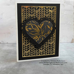 Quick Yet Stunning Card Using Many Hearts Dies and Golden Garden Acetate