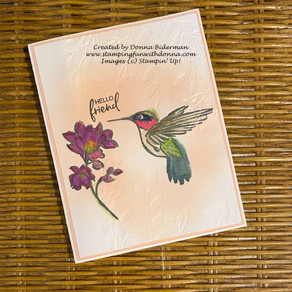 A Touch of Ink - Hummingbird - Stampin' Blends