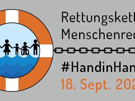 Unterstützung von #HandinHand – Rettungskette für Menschenrechte