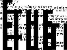 Typography Haiku