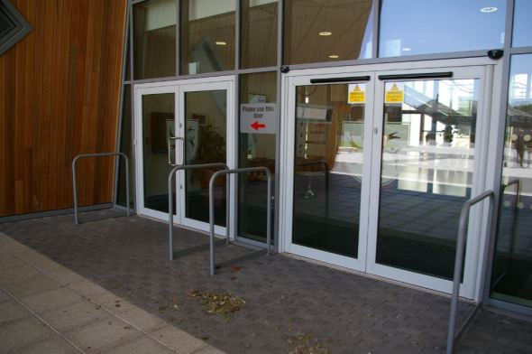 Commercial Doors in White colour