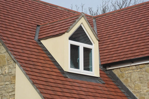 Shaped uPVC Roof Window in White