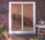 Aluminium Patio Doors double panes in white colour with white handle