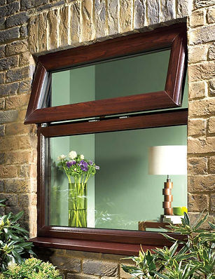upvc standard casement window in dark brown