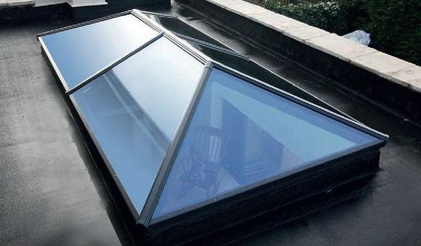 Lantern Roof regular design Pilkington active blue self-cleaning glass