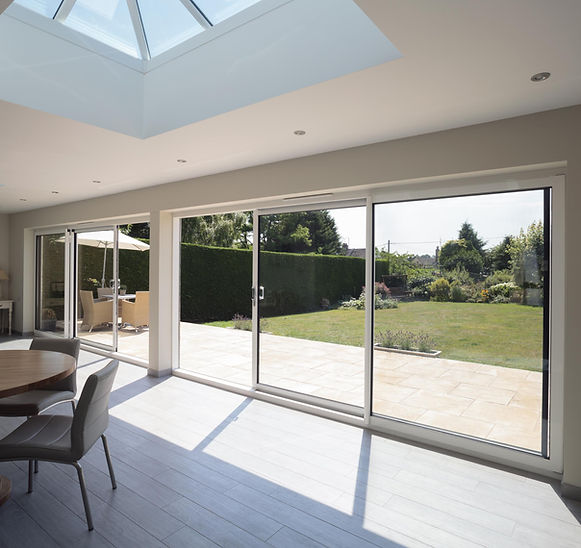 Aluminium Patio Doors in dual colours