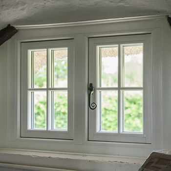 cottage style uPVC window in white