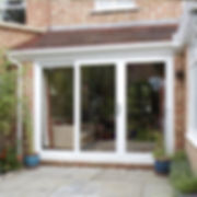 uPVC Patio Doors three panes in whaite colour