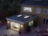 EXTERIOR Atlas skypods lanter roof Nightime