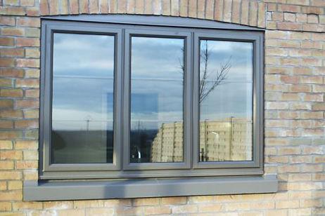 Aluminium Window in light grey colour