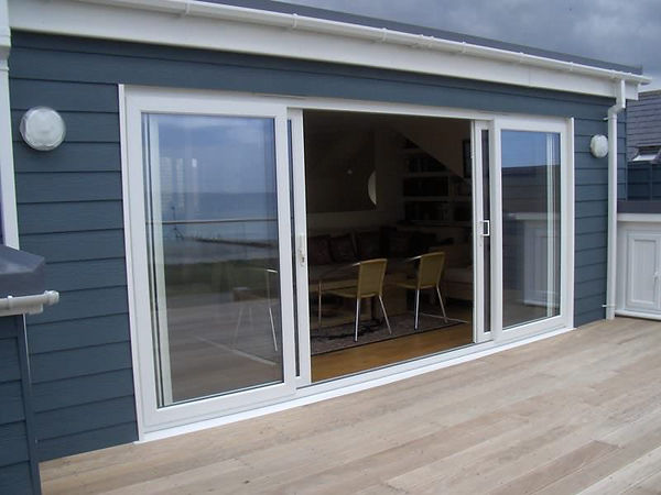 uPVC Patio Doors in White four panes